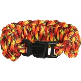 Bracelet Paracorde Feu double tressage King Cobra