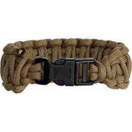 Bracelet Paracorde Marron Coyote double tressage King Cobra