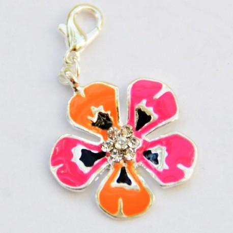 Fancy flower Charm Creastic Bracelet