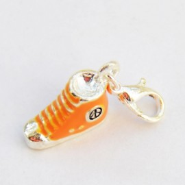 Orange shoe Charm Creastic Bracelet