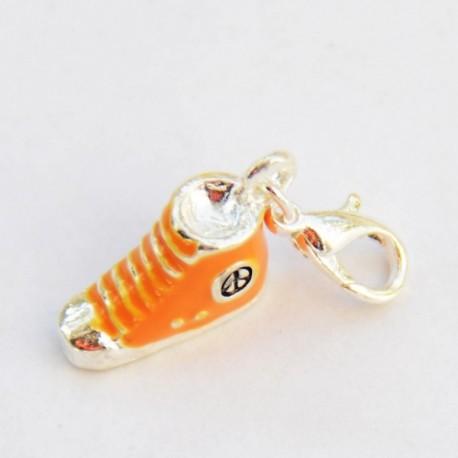 Orange shoe Charm Creastic Bracelet