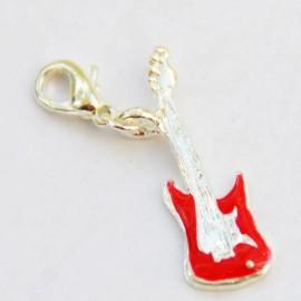 Guitare rouge pendentif Creastic Bracelet