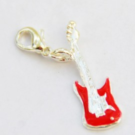 Red guitar Charm Creastic Bracelet