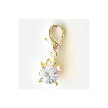 Pink Diamond Charm Creastic Bracelet